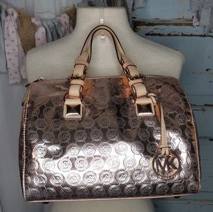 Michael Kors Grayson rose gold handbag